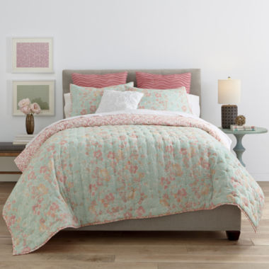 jcpenney.com | JCPenney Home™ Cotton Classics Jardin Reversible Quilt & Accessories