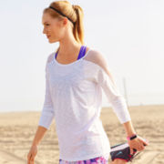 Xersion™ Mesh-Inset Tunic, Capris or Print Sports Bra