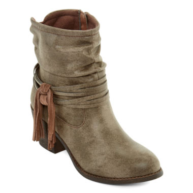 jcpenney.com | Pop Jive Fringe Ankle Booties