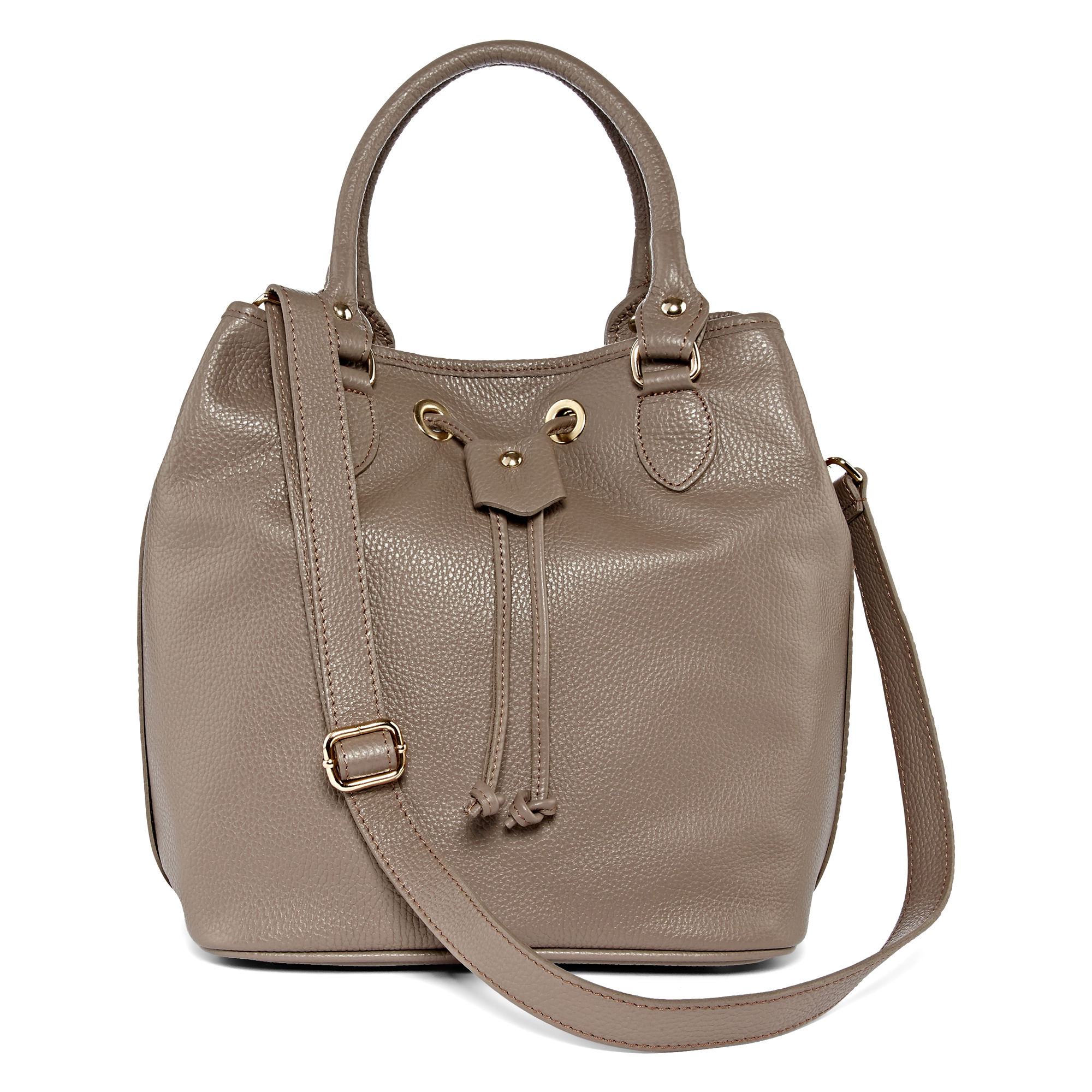 Liz Claiborne Angelina Leather Drawstring Bucket Bag