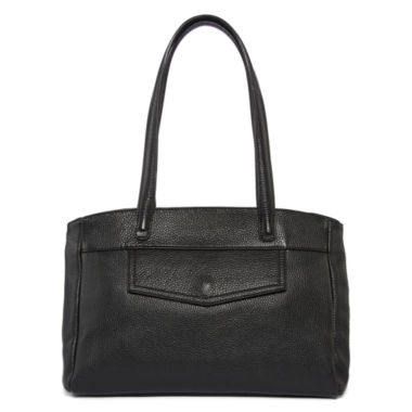 jcpenney.com | Liz Claiborne® Serifina Leather Shopper Bag