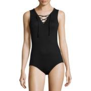 Decree® Sleeveless Lace-Up Bodysuit