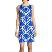 Worthington® Sleeveless Print Shift Dress