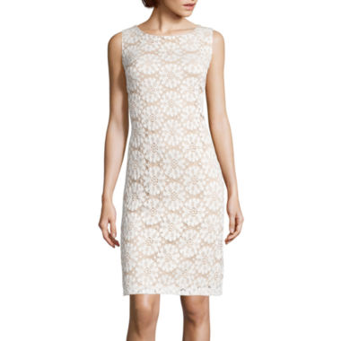 jcpenney.com | Ronni Nicole Sleeveless Medallion Lace Sheath Dress