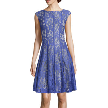 jcpenney.com | Danny & Nicole® Vertical Seam Lace Fit-and-Flare Dress