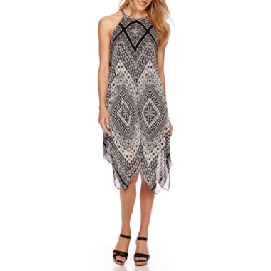 jcpenney.com | MSK Sleeveless Medallion-Print Handkerchief-Hem Dress