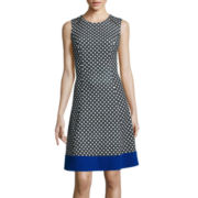 Alyx® Sleeveless Diamond-Print Fit-and-Flare Dress