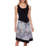 MSK Sleeveless Handkerchief-Hem Dress