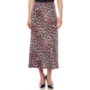 Black Label by Evan-Picone Animal-Print Maxi Skirt