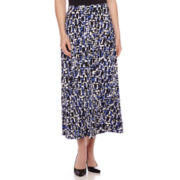 Black Label by Evan-Picone Puzzle-Print Maxi Skirt