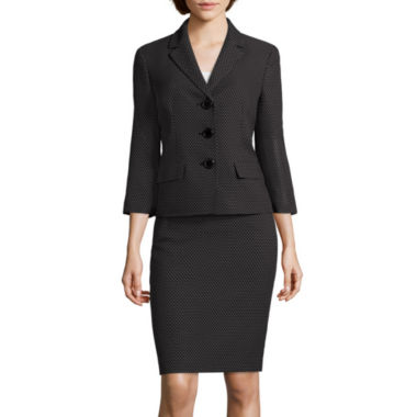 jcpenney.com | Le Suit® Pin Dot Notch Lapel Skirt Suit