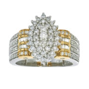 1 CT. T.W. Diamond 10K White and Yellow Gold Ring