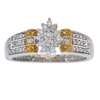 jcpenney.com | 1/4 CT. T.W. Diamond 10K White and Yellow Gold Ring