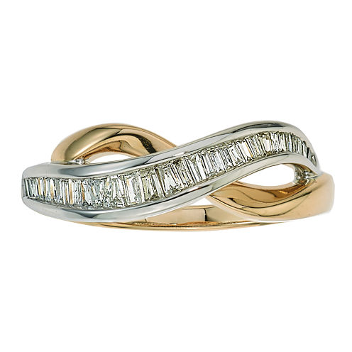 1/4 CT. T.W. Diamond 10K White and Yellow Gold Ring