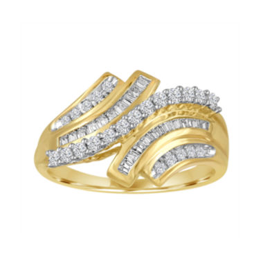 jcpenney.com | 3/8 CT. T.W. Diamond 10K Yellow Gold Ring