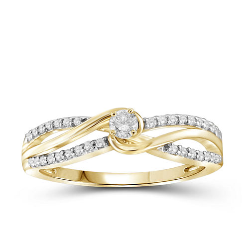 1/4 CT. T.W. Diamond 10K Yellow Gold Ring