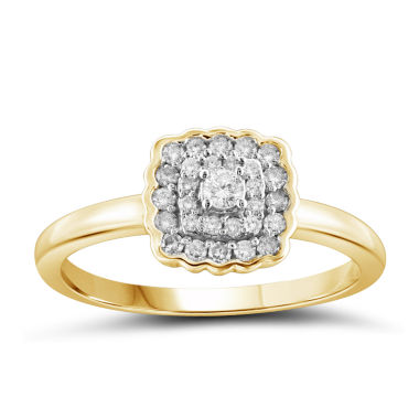 jcpenney.com | 1/4 CT. T.W. Diamond 10K Yellow Gold Ring
