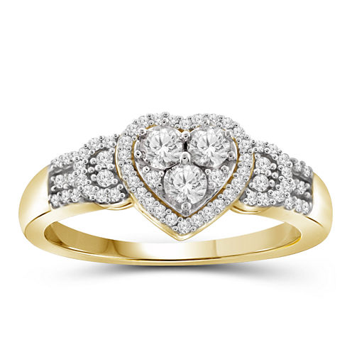 1/4 CT. T.W. Diamond 10K Yellow Gold Heart Ring