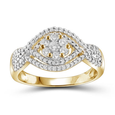 jcpenney.com | 1/2 CT. T.W. Diamond Cluster 10K Yellow Gold  Ring