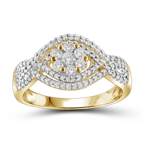 1/2 CT. T.W. Diamond Cluster 10K Yellow Gold  Ring