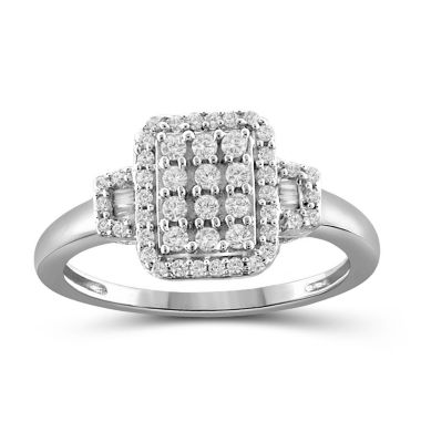 jcpenney.com | 1/2 CT. T.W. Diamond 10K White Gold Ring