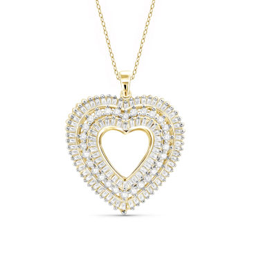 jcpenney.com | 1 CT. T.W. Diamond 10K Yellow Gold Heart Pendant Necklace