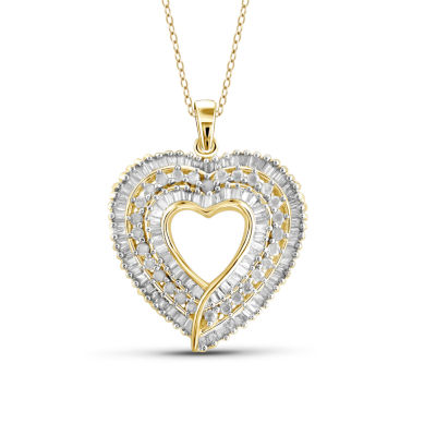 1 ct tw diamond 10k yellow gold heart pendant necklace jcpenney 1 ct tw diamond 10k yellow gold heart pendant necklace aloadofball Gallery