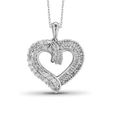 jcpenney.com | 1 CT. T.W. Diamond 10K White Gold Heart Pendant Necklace