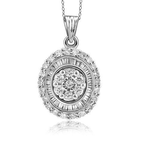 1/2 CT. T.W. White Gold 10K White Gold Diamond Pendant