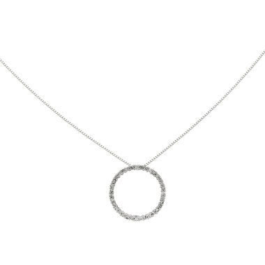 jcpenney.com | 1/3 CT. T.W. Diamond 14K White Gold Circle Pendant Necklace