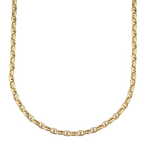 "Made in Italy 14K Yellow Gold 20"" Interlocking Chain"