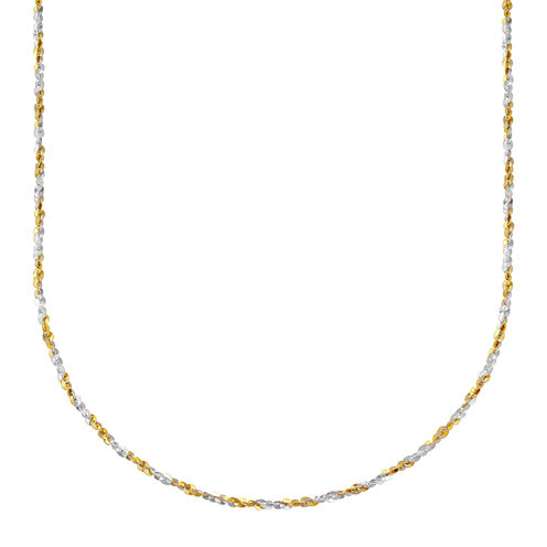 """Made in Italy 14k Two Tone Twist 18"""" Chain"""