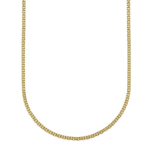 """14K Gold 18"""" Light Bismark Chain"""