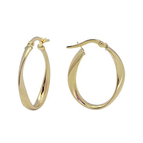 Made in Italy 14K Polished Wave Hoop Earrings