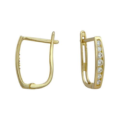 Petite Lux™ Cubic Zirconia Graduated Hoop Earrings