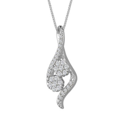 jcpenney.com | diamond blossom In Sterling Silver Pendant