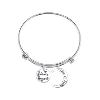 "jcpenney.com | Inspired Moments™ Sterling Silver Bangle ""Friends Forever"""