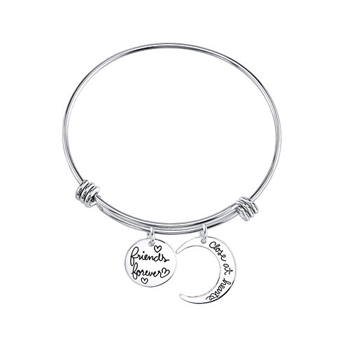 "Inspired Moments™ Sterling Silver Bangle ""Friends Forever"""