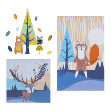 jcpenney.com | 2-pc. Canvas Art + Wall Decals - Woods