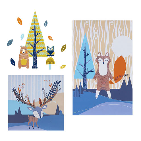 2-pc. Canvas Art + Wall Decals - Woods