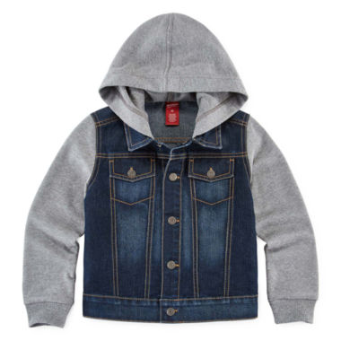 jcpenney.com | Arizona Denim Button-Front Hoodie - Preschool Boys 4-7