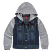 Arizona Denim Button-Front Hoodie - Toddler Boys 2t-5t