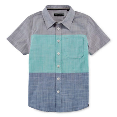 jcpenney.com | Short-Sleeve Colorblock Button Down Shirt - Preschool Boys 4-7