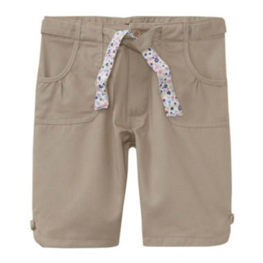 jcpenney.com | U.S. Polo Assn.® Bermuda Shorts with Reversible Belt - Girls 7-16