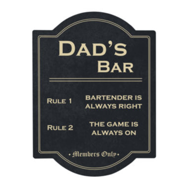 jcpenney.com | Cathy's Concepts Dad's Bar Rules Sign
