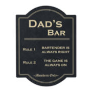 Cathy's Concepts Dad's Bar Rules Sign