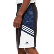 adidas® Team Speed Black Ice Print Shorts