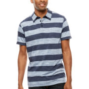 Lee® Short-Sleeve Stripe Pocket Polo - Big & Tall