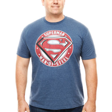jcpenney.com | Bioworld® Superman of Steel Short-Sleeve Tee - Big & Tall