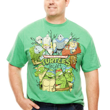 jcpenney.com | Bioworld® Short-Sleeve TMNT Character Tee - Big & Tall